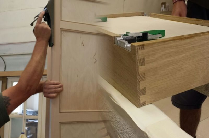 Craftsman working on a Kitchen